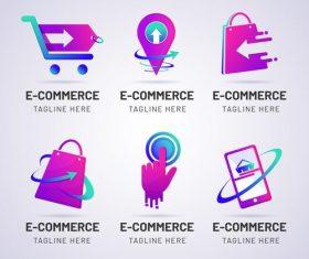 E-commerce logo design vector