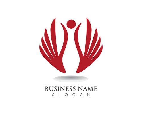 Eagle wings logo design vector