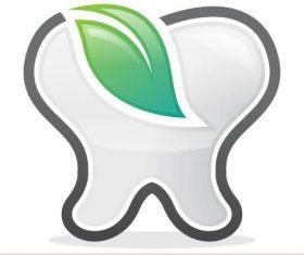 Eco dental logo vector