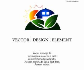 Eco logo design vector