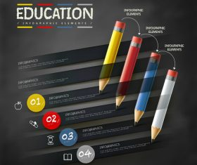 Education infographic option background vector