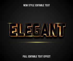Elegant new style editable text vector