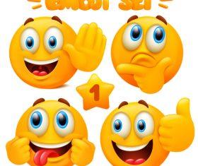 Emoticon set vector