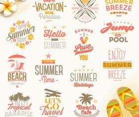 Enjoy summer breeze vector