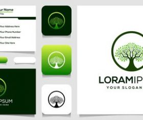 Environmental protection cover business card design vector