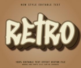 Etro 3D emboss vintage style vector