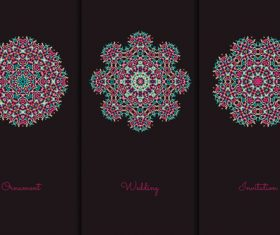 Exquisite red mandala pattern vector