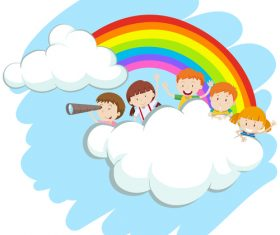 Fantasy children cartoon vector