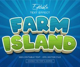 Farm Island vector editable text effect