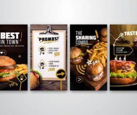 Fast food flyer banner vector