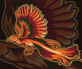 Fire phoenix sport logo vector