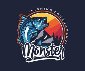 Fishing logo design vector