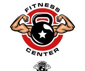 Fitness center logo design vector
