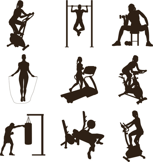 Fitness silhouette vector