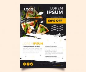 Food flyer vector