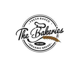 Fresh baked bakery logo vector