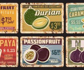 Fresh fruit advertising vector
