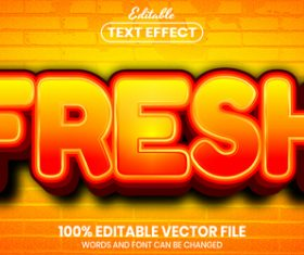 Fresh text font style vector