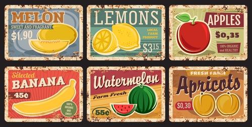 Fruit advertising vector