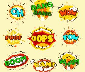 Funny cartoon bubble text vector