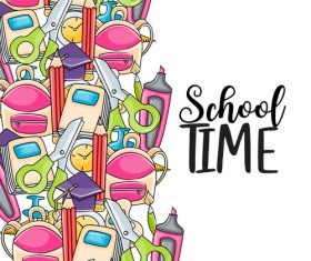 Funny comic back to school background vector
