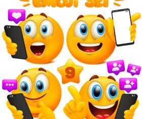 Funny emoticon set vector