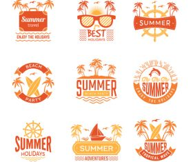 Funny summer logo vector
