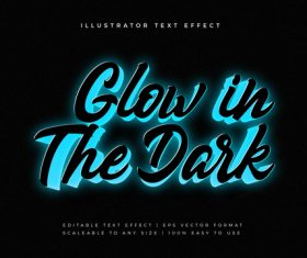Glowing motivational text style font effect vector