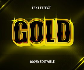 Gold style luxury editable text effect vector