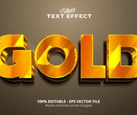 Gold text font style vector