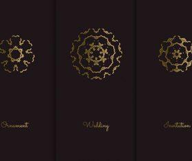Golden frame mandala pattern vector