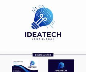 Golden idea business card vector