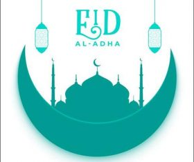 Good wishes Eid al adha background vector