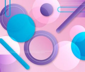 Gradient abstract design geometric background vector
