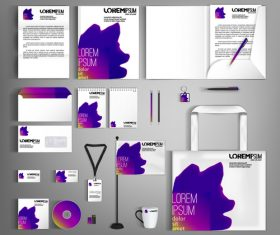 Gradient background business template vector