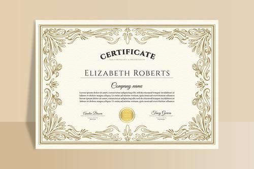 Graduation certificate design template vector