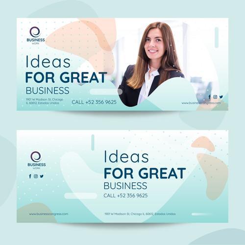 Great idea business flyer vector