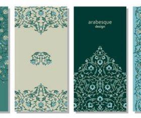 Green arabesque design background vector