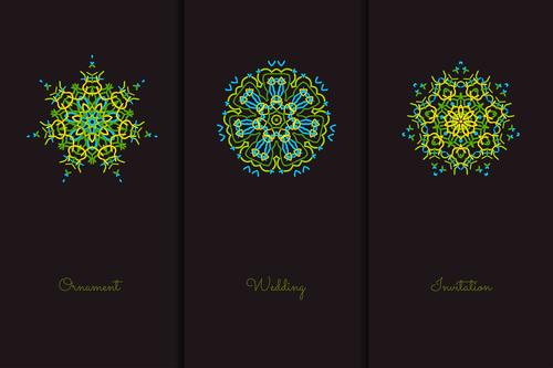 Green beautiful geometric pattern mandala vector