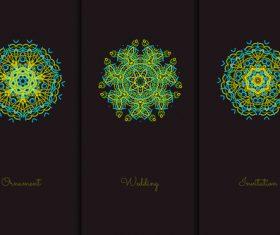Green mandala pattern vector