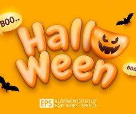 Happy Halloween text editable style effect vector