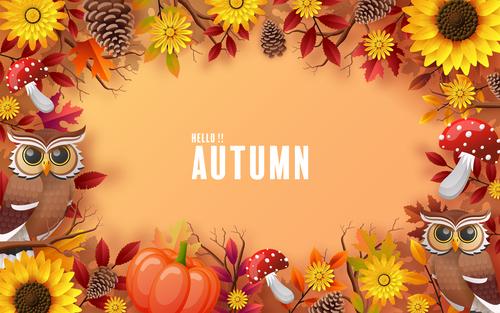 Happy autumn background vector