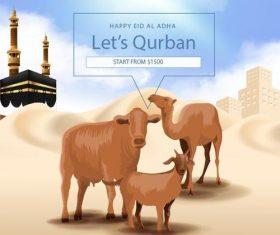 Happy eid al adha vector