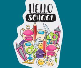 Happy school vector
