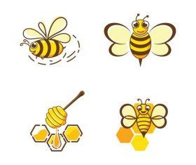 Hardworking bee logo vector