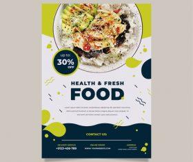 Health fresh food vector