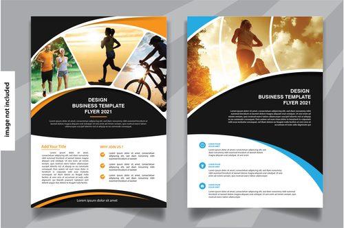 Healthy life flyer template vector