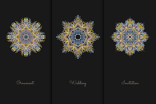 Hexagonal mandala pattern vector