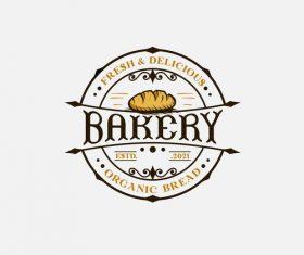 High quality wheat bakery logo vector