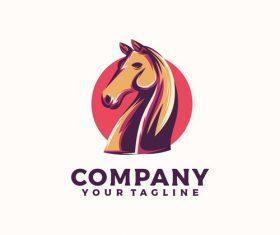Horse head logo vector